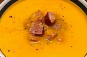 Crème de butternut à la Morteau au Thermomix