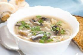 Soupe au poulet et champignons au Thermomix