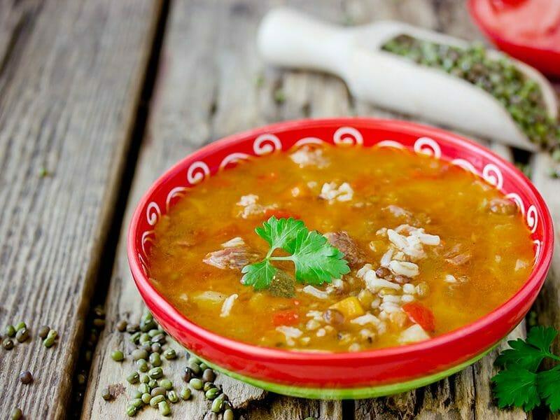 Soupe de légumes aux lentilles et au riz au Thermomix
