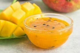 Confiture de mangues et fruits de la passion au Thermomix