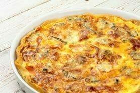 Tarte gorgonzola et jambon de Parme au Thermomix