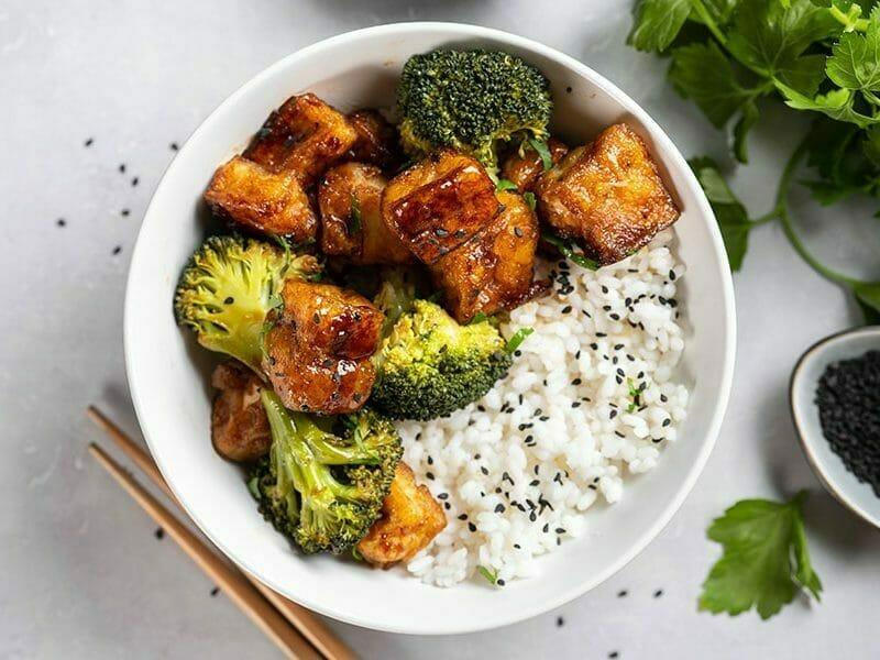 Tofu sauté aux graines de sésame au Thermomix