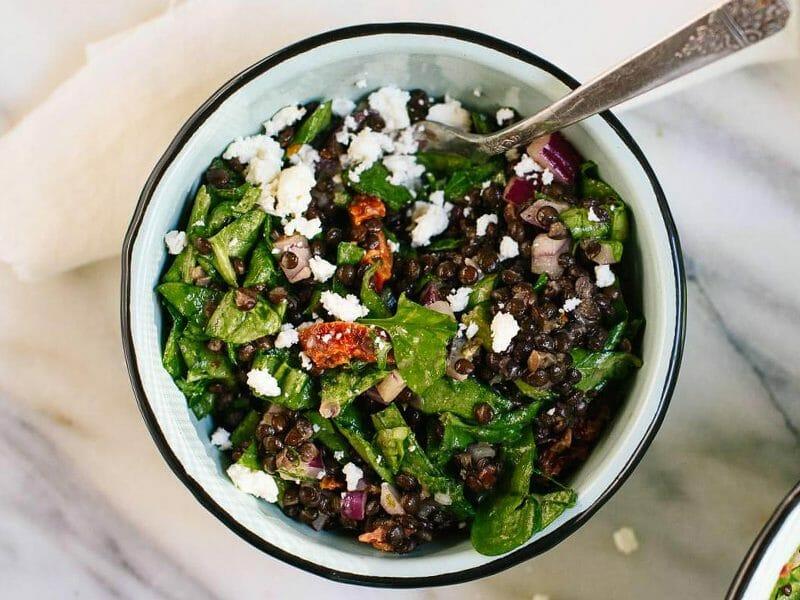 Salade de lentilles à la grecque au Thermomix