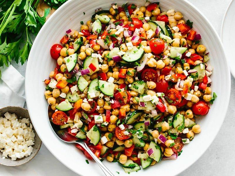 Salade de pois chiches au Thermomix