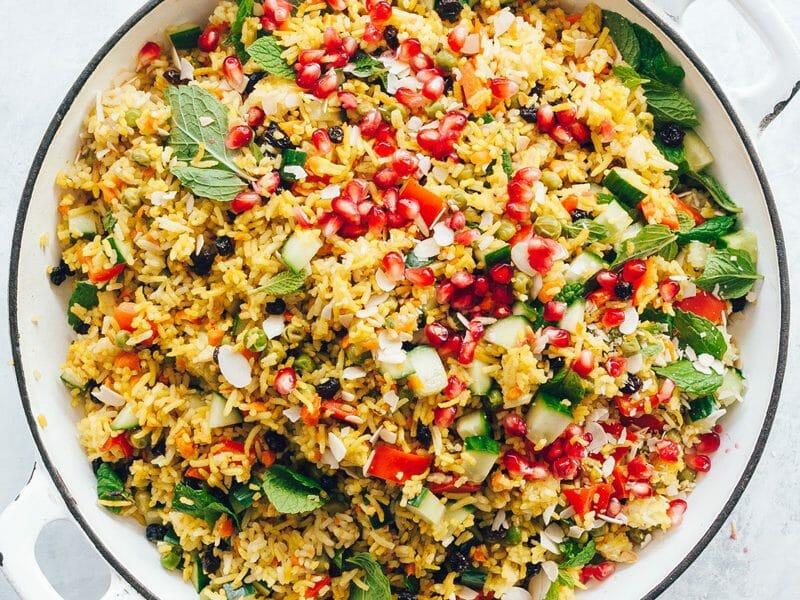 Salade de riz arc-en-ciel au Thermomix