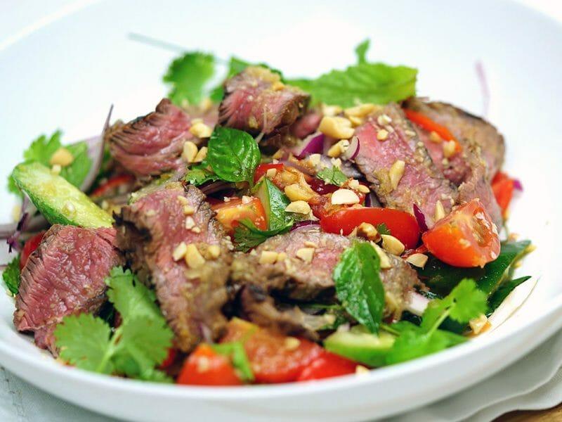 Salade thaï au boeuf au Thermomix