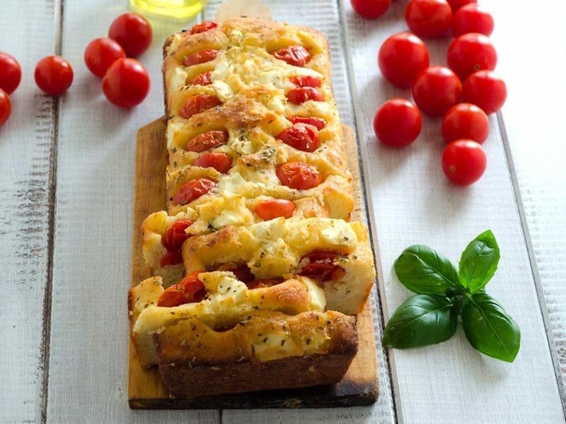 Cake tomates mozzarella et lardons au Thermomix