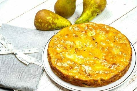Gâteau des femmes pressées poires et chocolat Thermomix par Minou