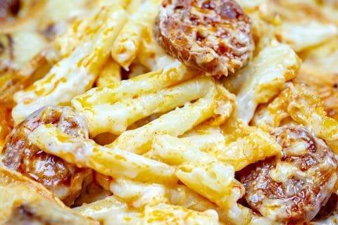Gratin de macaroni reblochon et chorizo Thermomix par Minou