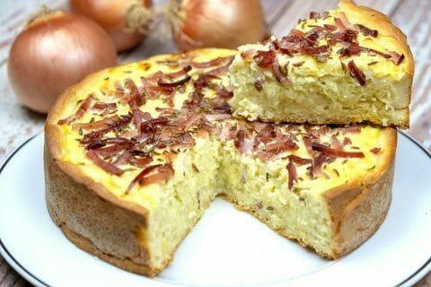 Zwiebelkuchen – gâteau aux oignons Thermomix par Minou