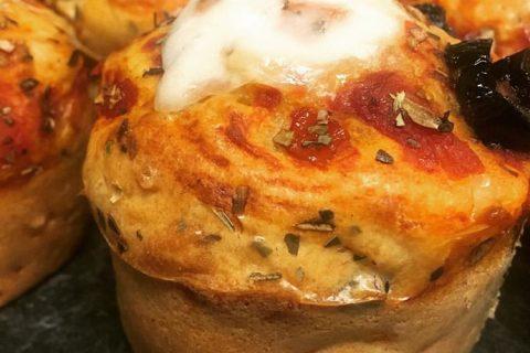 Muffins salés façon pizza Thermomix par Freemouse