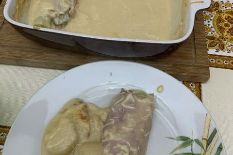 Roulés gratinés de jambon aux légumes au Thermomix