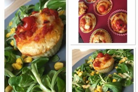 Muffins salés façon pizza Thermomix par Leïla