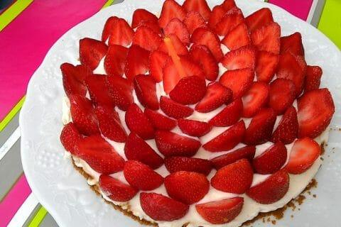 Tarte aux fraises sans cuisson Thermomix par christine1969