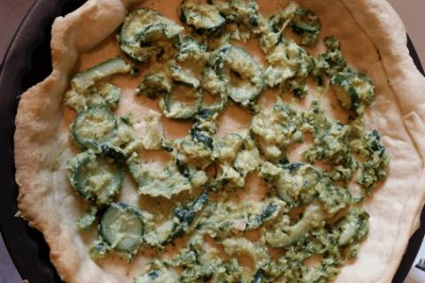 Tarte courgette, jambon & chèvre Thermomix par cassandra