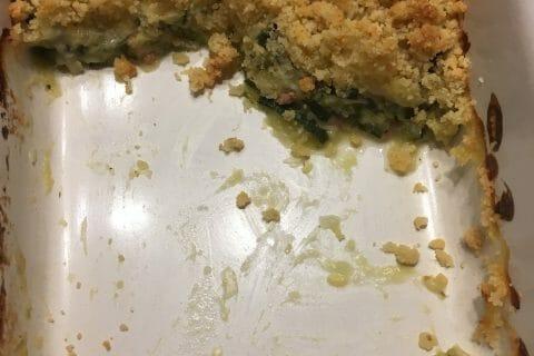 Crumble courgettes, chèvre et lardons au Thermomix
