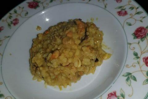 Risotto crevettes et curry Thermomix par Doudoune57
