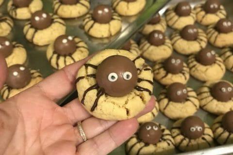 Spider cookies (cookies araignées) Thermomix par Sophie3l