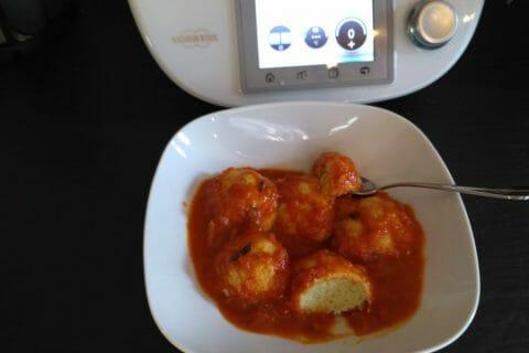 Boulettes de ricotta sauce tomate Thermomix par Jeanne