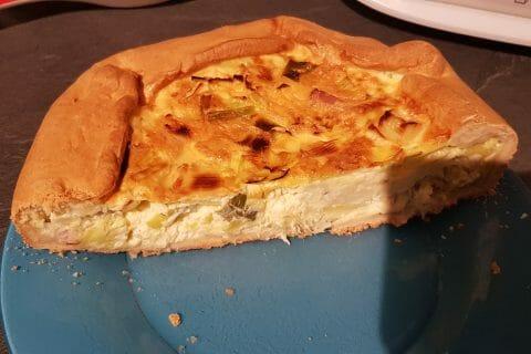 Gâteau poireaux, lardons et fromage au Thermomix