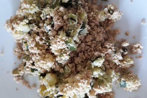 Crumble courgettes, basilic et parmesan au Thermomix