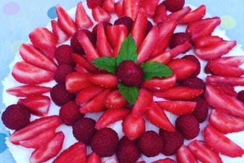 Tarte aux fraises sans cuisson Thermomix par steph_