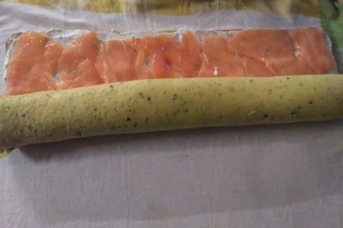 Roulé aux courgettes et au saumon fumé Thermomix par celinetteyo
