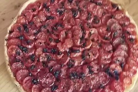Tarte tomates et amandes Thermomix par Nunuche