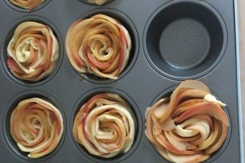 Roses feuilletées aux pommes Thermomix par @flo@