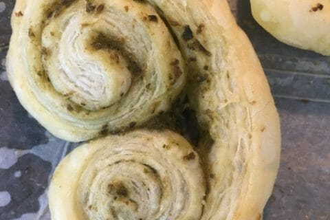Pâte feuilletée en escargot au Thermomix