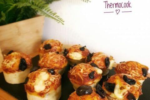 Muffins salés façon pizza Thermomix par lilasoumissa