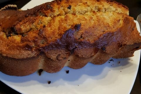 Cake banane et pépites de chocolat au Thermomix