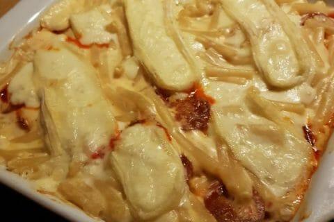Gratin de macaroni reblochon et chorizo Thermomix par Angelique_83