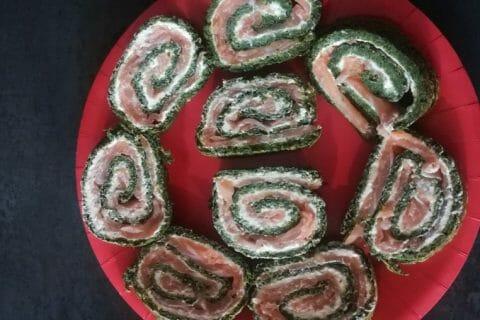 Roulé aux épinards, saumon et Boursin Thermomix par lemat