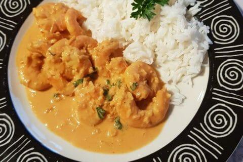 Curry de crevettes au lait de coco Thermomix par Mimi074