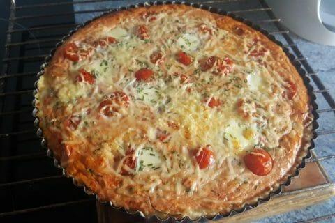 Tarte au thon, tomate et moutarde Thermomix par Christel72