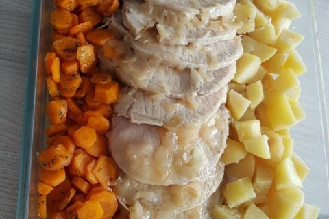 Roti de porc sauce échalote Thermomix par kikinou781