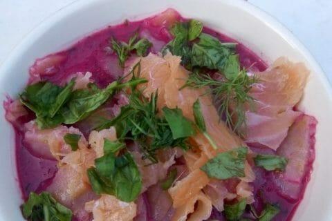 Soupe de betterave au saumon Thermomix par MagChav