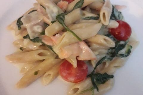 One pot pasta – épinards et saumon fumé au Thermomix