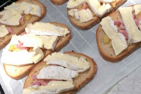 Tartines normandes pommes et camembert au Thermomix