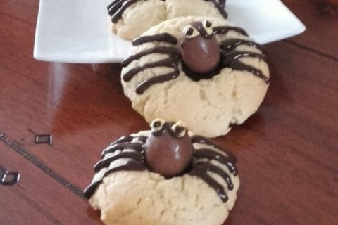 Spider cookies (cookies araignées) Thermomix par vivie1971 @