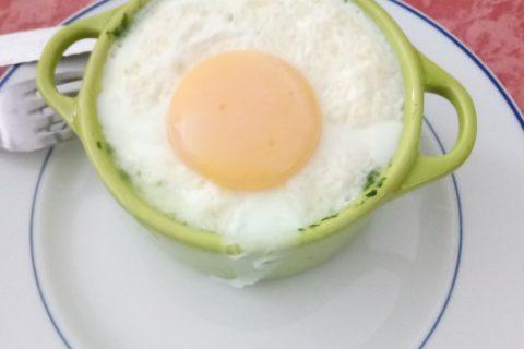 Oeufs cocotte épinards et chorizo au Thermomix