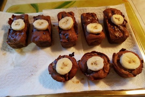 Brownie fondant choco-banane Thermomix par naianinanao