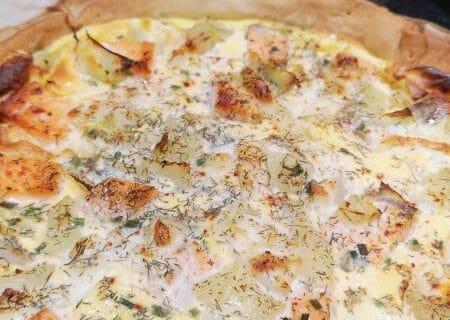 Tarte au fenouil et saumon Thermomix par Vaness45