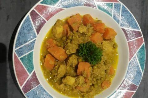 Curry de poulet aux patates douces Thermomix par Maryse.A