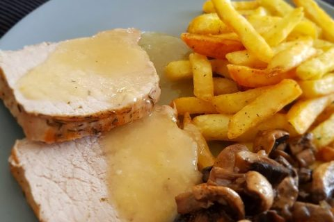 Roti de porc sauce échalote Thermomix par Marie-Ange.homet