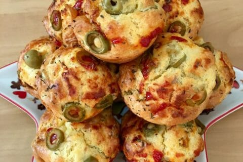 Muffins salés façon pizza Thermomix par leava