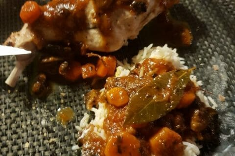Lapin sauce chasseur Thermomix par Laurao