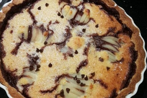 Tarte poires et chocolat Thermomix par hal57