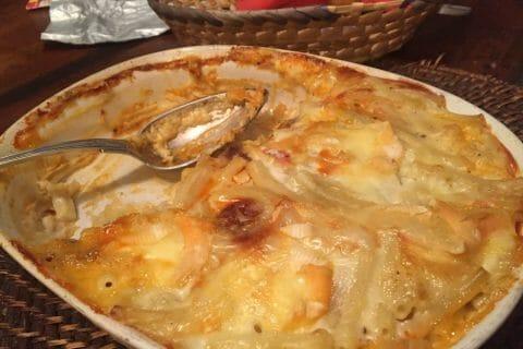 Gratin de macaroni reblochon et chorizo Thermomix par Catherine_10